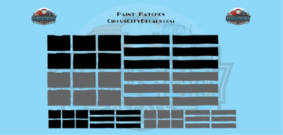 Reporting Mark Paint Patch Black/Gray O Scale