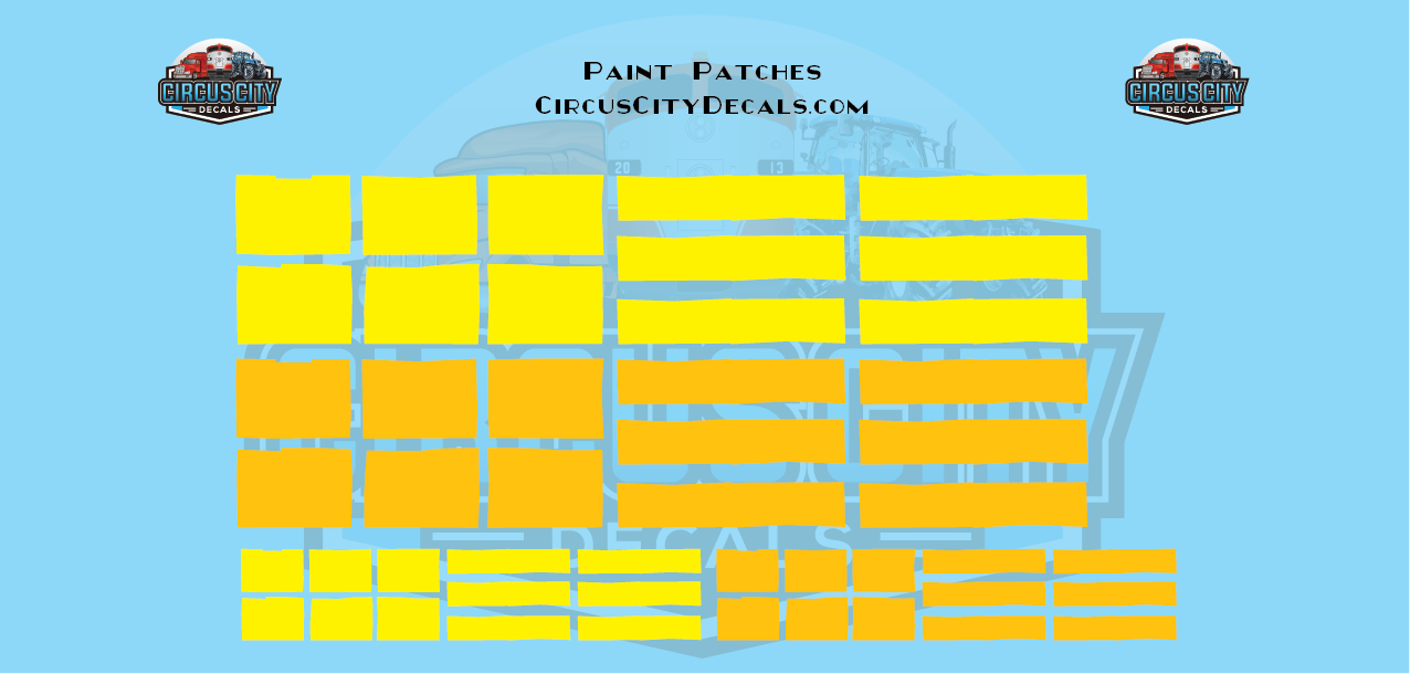 Reporting Mark Paint Patch Set Yellow O Scale