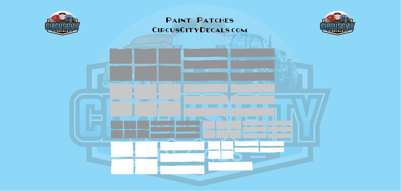 Reporting Mark Paint Patch Set White Gray O Scale