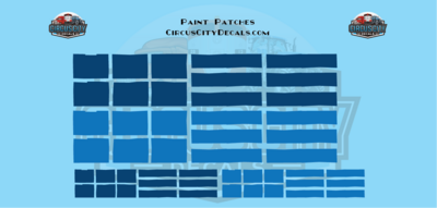 Reporting Mark Paint Patch Set Blue O Scale