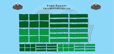 Reporting Mark Paint Patch Set Green O Scale