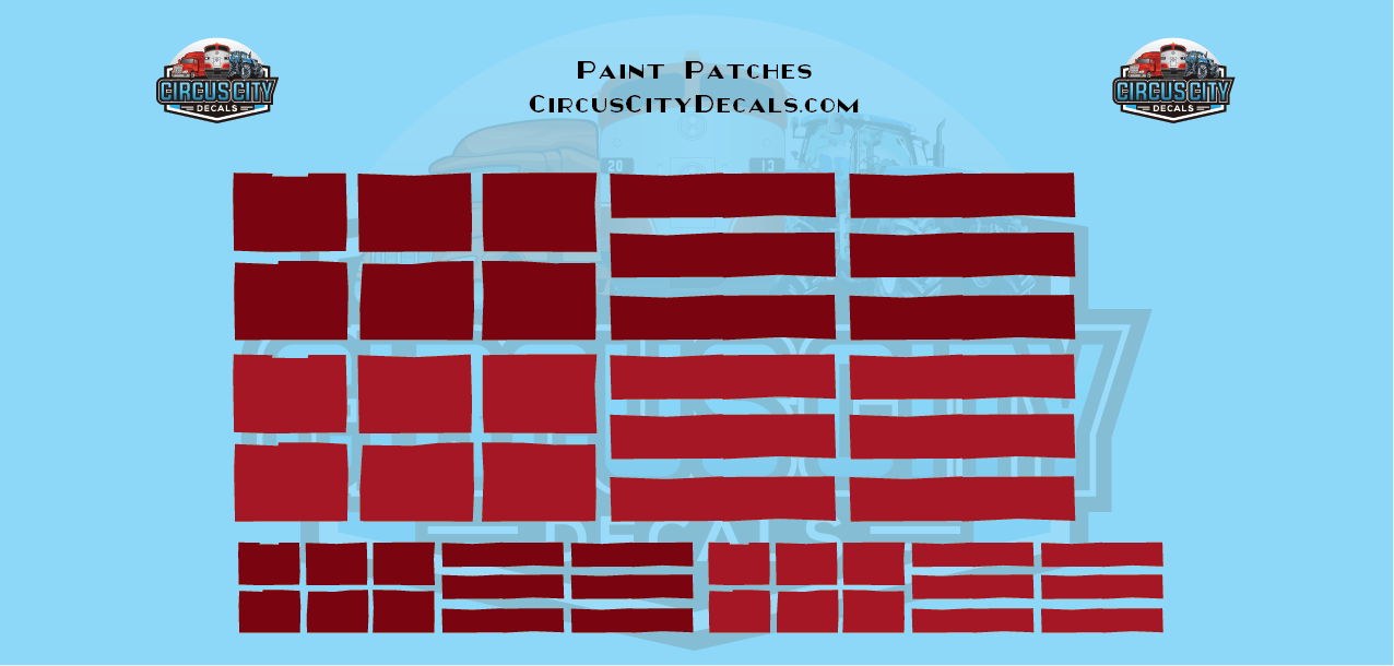 Reporting Mark Paint Patch Red O Scale