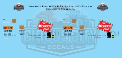 Milwaukee Road 10559 LLTX Soo Line 1003 Tool Car HO Scale Decal Set