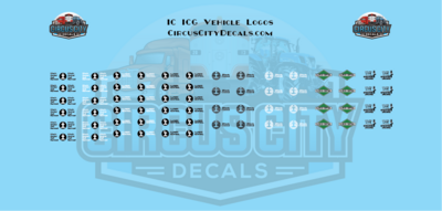 Illinois Central IC ICG Vehicle MOW Door Logos HO Scale Decals