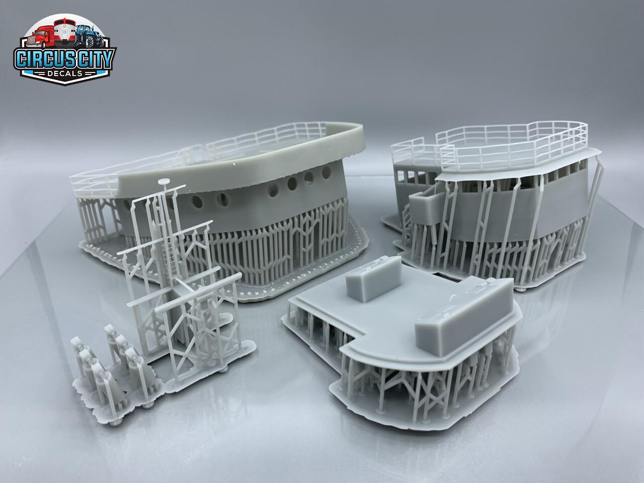 Great Lakes Ore Boat Wheelhouse 3d Printed HO 1:87 Scale