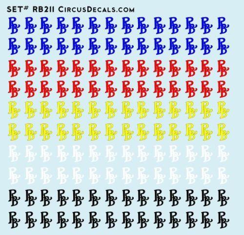 Ringling Bros. & Barnum Bailey RBBB Circus Logo Decals HO Scale
