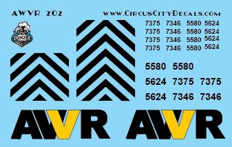 AWVR Unstoppable Movie 7346 7375 SD40-2 HO Scale