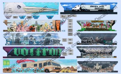 Full Carside Graffiti Decal Set N Scale Loony Tunes, Breaking Bad, Aware
