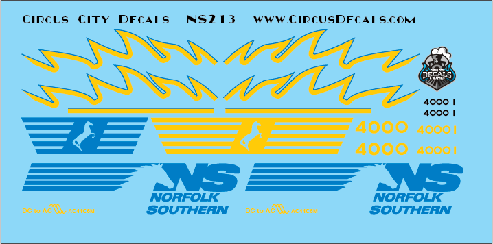 Norfolk Southern AC44C6M Rebuild 4000 4001 Original Set HO Scale