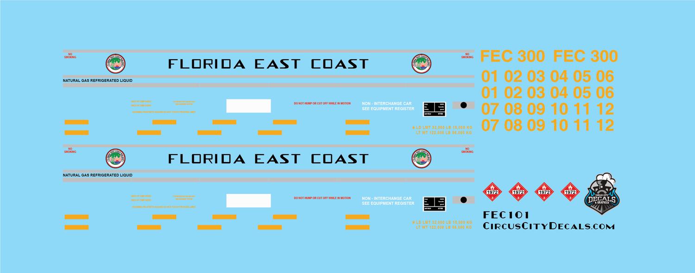 Florida East Coast LGN Liquid Natural Gas Fuel Tender N Scale FEC