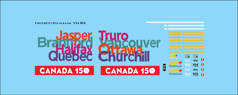 VIA Canada 150 P42 HO Scale 916
