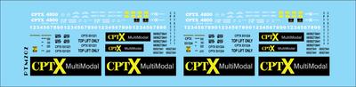 Co-Operative Railroad Intermodal Service Decal Set HO Scale