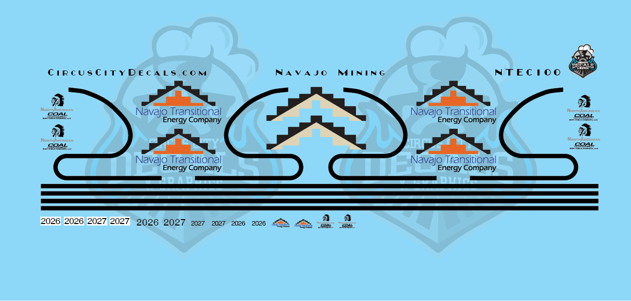 Navajo Transitional Energy Co. ET44AC N Scale Decals
