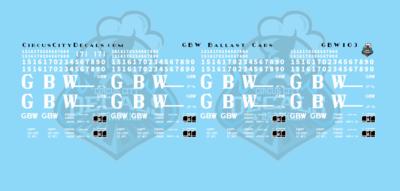 Green Bay & Western Ballast Car Decals N Scale
