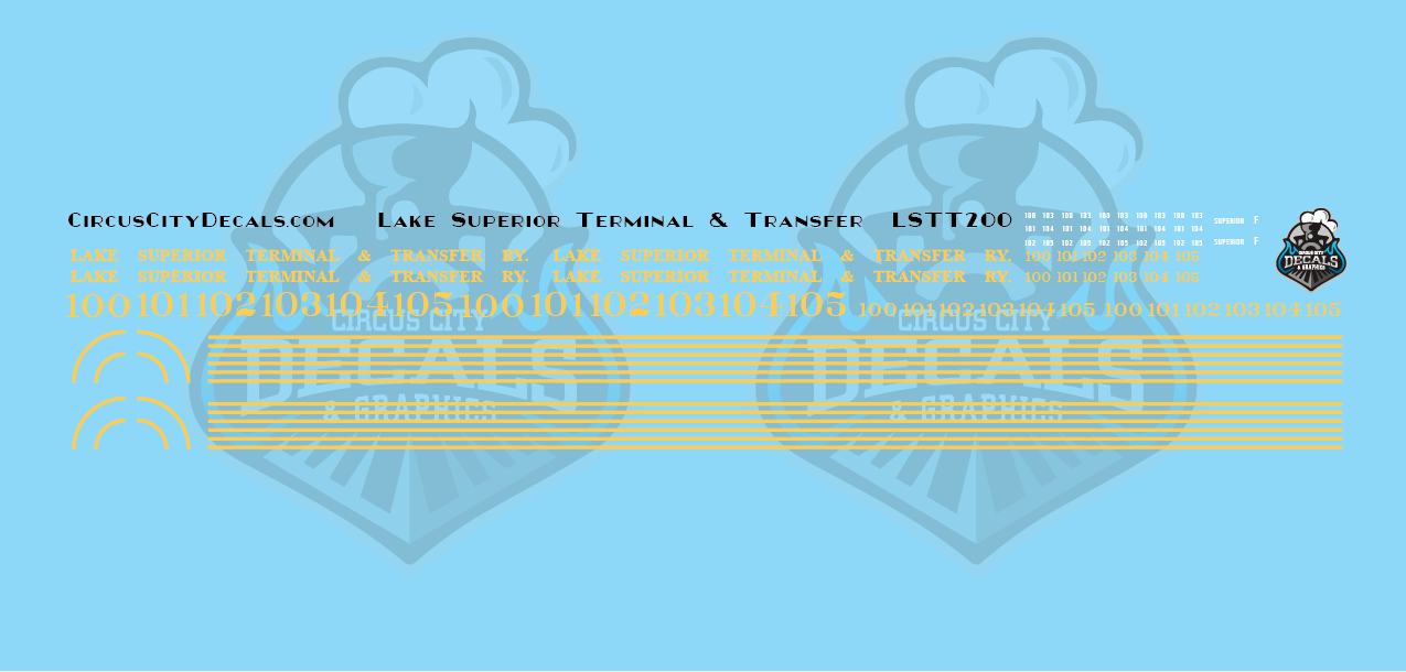 Lake Superior Terminal & Transfer NW2/SW1200 HO Scale Decal Set