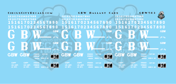 Green Bay & Western Ballast Car Decals S Scale