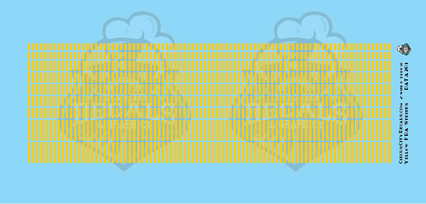 FRA Yellow Stripe Waterslide N Scale Decal Set