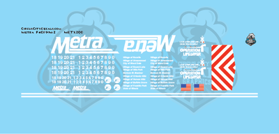 Metra METX F40PHM-2 N Scale Decal Set