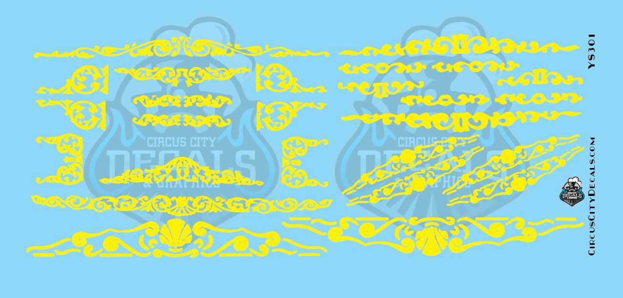 Yellow Circus Scrolls O Scale