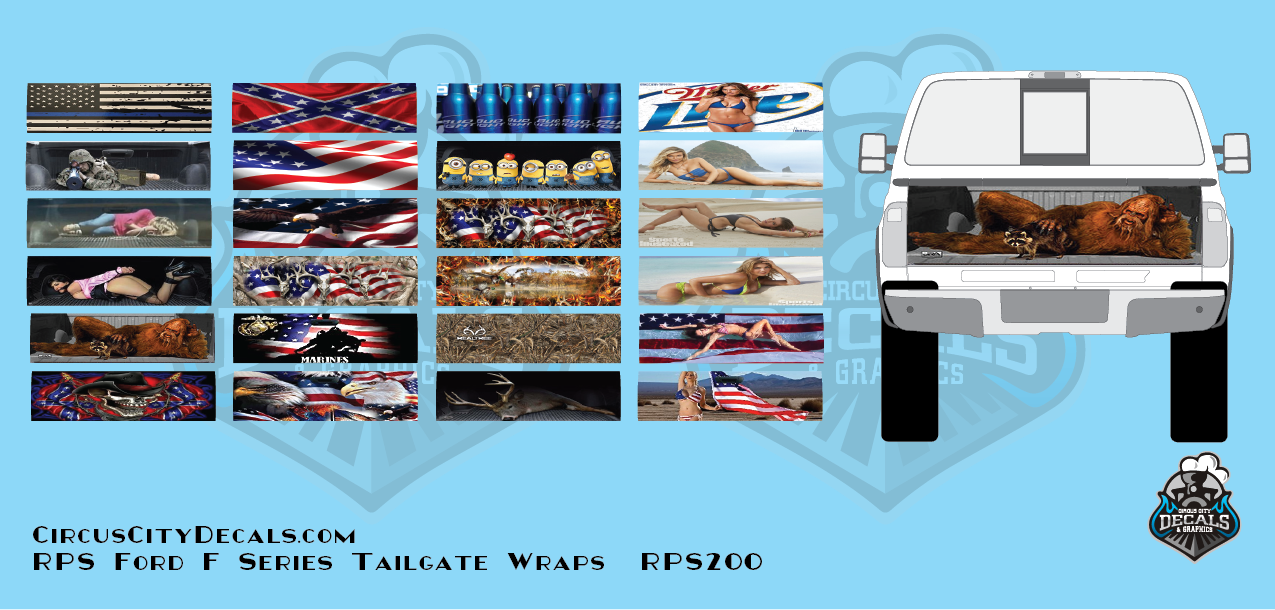 RPS Ford F Series Tailgate Wrap Graphics HO scale