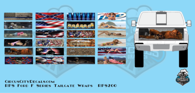 RPS Ford F Series Tailgate Wrap Graphics S scale