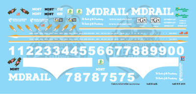 MDRail Locomotive Set HO Scale