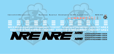 NRE National Railway Equipment GP/SD Locomotive Decal Set N Scale