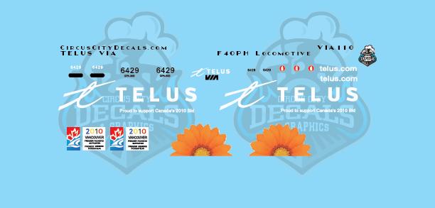 VIA Telus F40PH N Scale
