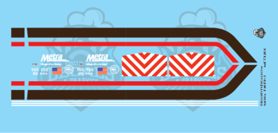 Metra METX F40PH-3 Retro Wrap 100 40th Anniversary HO Scale Decal Set