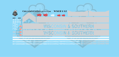 Wisconsin & Southern Railroad GP38-2 GP39-2 SD40-2 Decal Set WSOR