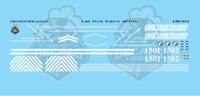 Lake State Railway MP15 MP15AC Locomotive Decals N Scale