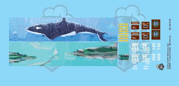 BNSF Coalporter Bethgon #668785 Whale Graffiti HO Scale