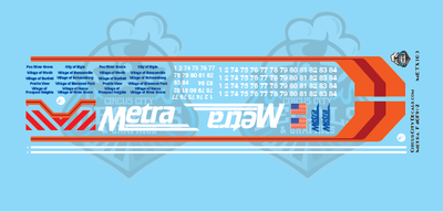 Metra METX F40PH-2 N Scale Decal Set