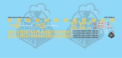 Co-Operative Railroad Switching Service Switch Locomotive Decal Set HO Scale CPTX
