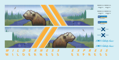 Alaska Railroad ARR Wilderness Express Dome Z Scale Decals Royal Caribbean Mckinley