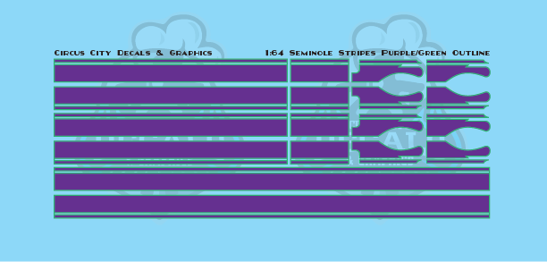 Seminole Stripes 1:64 Scale Purple/Green Pinstripe