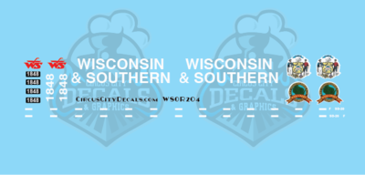 Wisconsin & Southern Railroad SD20 1848 Decal Set WSOR