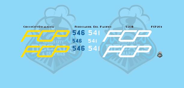 FCP U23B Ferrocarril Del Pacifico HO scale Decal Set