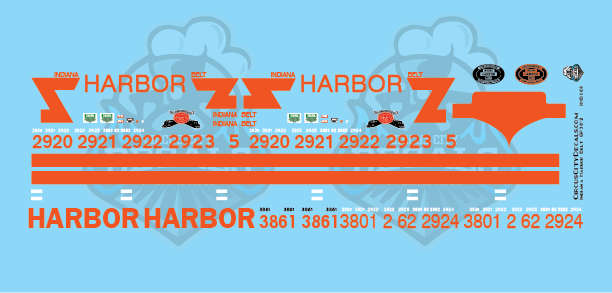 Indiana Harbor Belt GP38-2 SD20 SD38-2 N Scale Decal Set