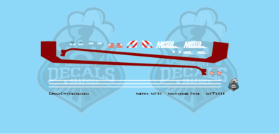Metra METX Milwaukee Road MP36 #405 N Scale Decal Set