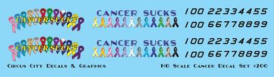 Cancer Sucks Decal Set HO Scale