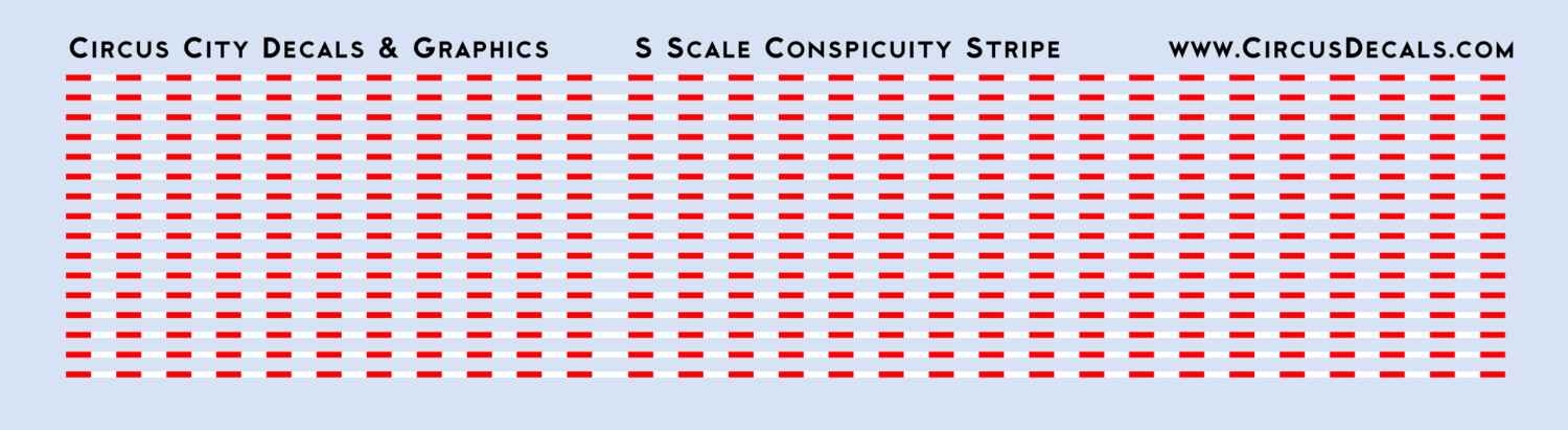 Conspicuity Stripe for S Scale Vehicles