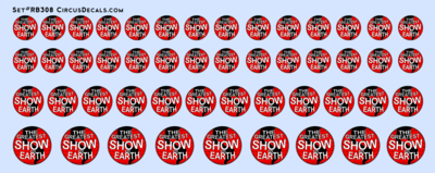 Ringling Bros. & Barnum Bailey RBBB Circus Globe Decals O Scale