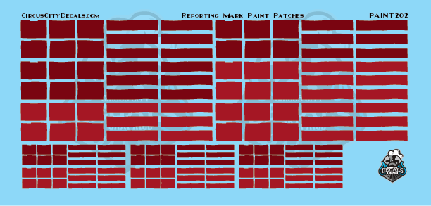 Reporting Mark Paint Patch Set Red HO Scale