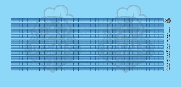 Venetian Blinds Blue HO Scale