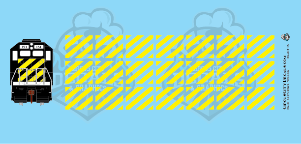 EMD Chevrons GP SD Yellow BN Style HO Scale Decals