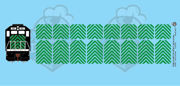 EMD Chevrons GP SD Green Montana Rail Link Style HO Scale Decals