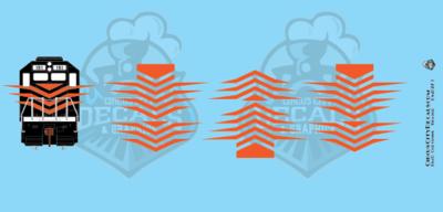 EMD Chevrons GP SD Orange Style 7 HO Scale Decals