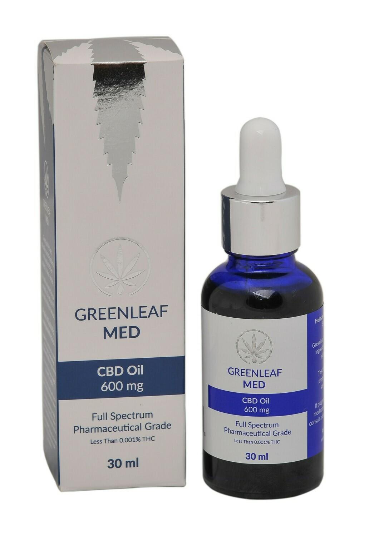 GreenLeaf MED Full Spectrum Pharmaceutical Grade CBD Oil 600mg