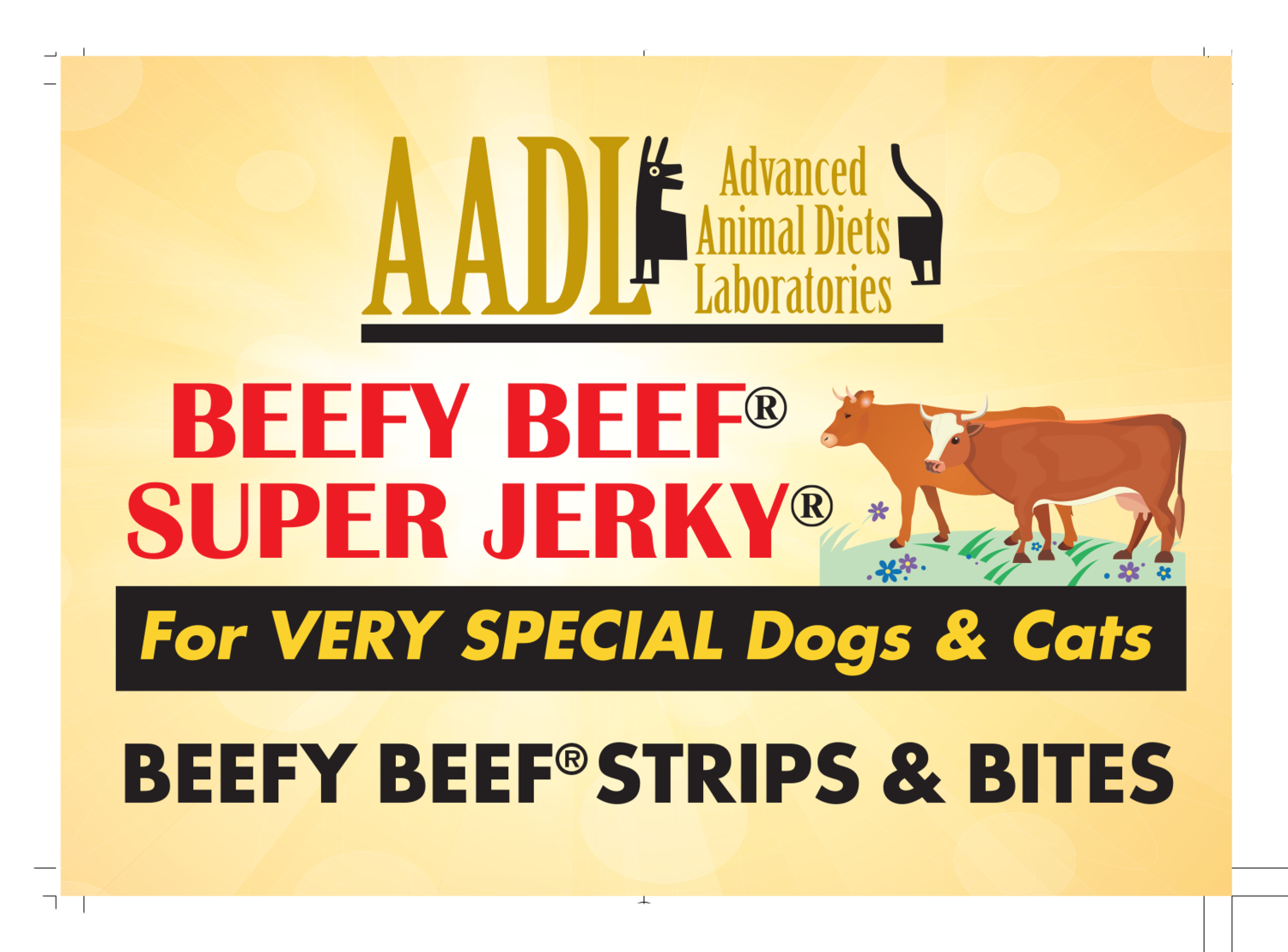 Beefy Beef® SuperJerky® Beefy Beef Strips & Bites for Very Special Dogs & Cats